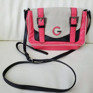 ❤ Pink/beige/black Guess crossbody purse